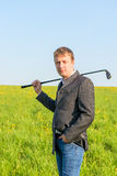 Man  going to play golf Stock Photography