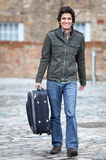 Man going on a trip Stock Images