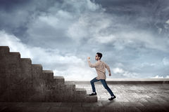 Man Going Up Stock Images