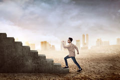 Man Going Up Royalty Free Stock Photo