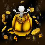 Man in a golden egg Royalty Free Stock Images