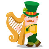 The man with the golden harp. St. Patrick s Day. Stock Image