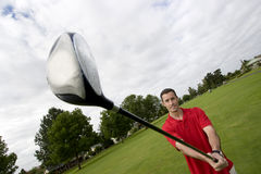 Man with Golf Club - Horizontal Stock Photos