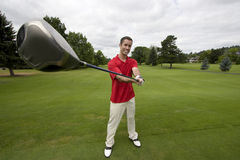 Man with Golf Club - Horizontal Royalty Free Stock Photos