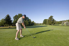 Man on Golf Course Royalty Free Stock Image
