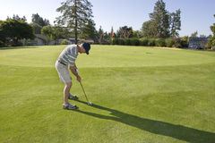 Man on Golf Course stock photography