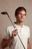Man with golf set Royalty Free Stock Image