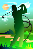 Man golf swing Royalty Free Stock Photography