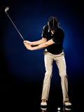 Man  golfer golfing isolated Royalty Free Stock Photography