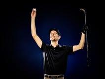 Man  golfer golfing isolated Stock Photography