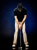 Man  golfer golfing isolated Royalty Free Stock Photo