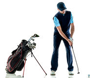 Man golfer golfing isolated withe background Royalty Free Stock Photography