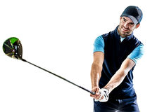Man golfer golfing isolated withe background Stock Photography