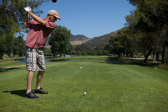 Man Golfing Stock Photo