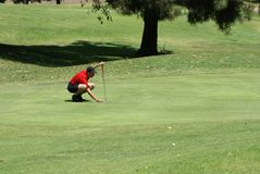 Man Golfing Royalty Free Stock Photography