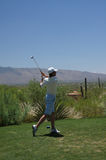 Man Golfing. In Tucson Arizona royalty free stock photos