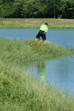 Man Golfing Out Of The Rough Royalty Free Stock Photo