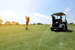 Man golfing Stock Images
