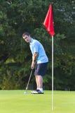 Man Golfing - vertical Royalty Free Stock Images