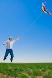 Man gone with kite Royalty Free Stock Photos