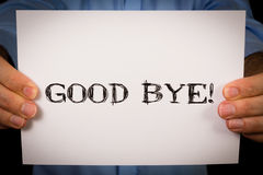 Man with Good Bye Stock Images