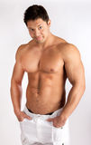 Man is in good shape Stock Photo
