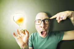Man got an amazing idea Stock Photo