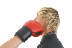 Man got fist. Stock Images