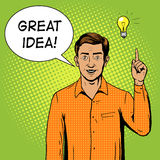 Man got a great idea pop art style vector Royalty Free Stock Images