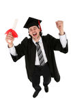 Man in graduation robes Royalty Free Stock Images