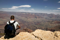 Man in Grand Canyon, Arizona, USA Stock Image