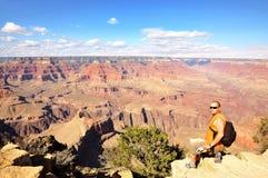Man at the Grand Canyon Stock Image