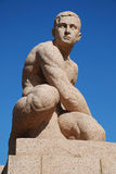 Man granite sculpture Royalty Free Stock Photography
