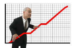 Man & graph Stock Photo