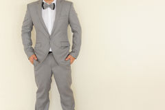 A man in gray suit Royalty Free Stock Photography