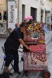 Man with greek laterna Royalty Free Stock Photo