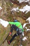 Winter climbing Royalty Free Stock Photo