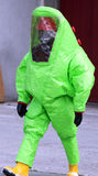 Man with green protective suit Royalty Free Stock Photo