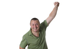 Man in green shirt Stock Image