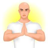 Man greeting namaste Stock Image