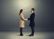 Man greeting the young woman Stock Images