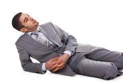 Man in grey suit Stock Photos