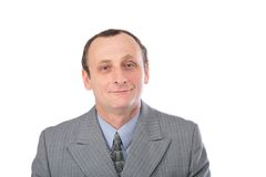 Man in grey suit 2 Royalty Free Stock Photo