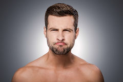 Man grimacing. Stock Photography