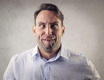 Man grimacing Royalty Free Stock Photos