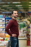 Man At Groceries Store Royalty Free Stock Photo
