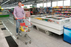 Man At Groceries Store Royalty Free Stock Image