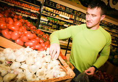 Man Grocery Shopping Stock Photography