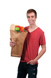 Man Grocery Shopping Stock Images