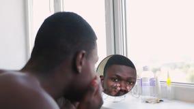 Man grooming anti-aging treatment guy face skin